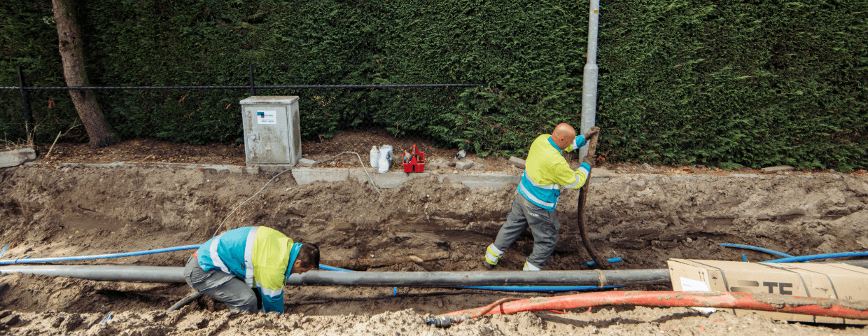 De combi SION coördineert de aanleg van kabels en leidingen  in de provincies Flevoland,  Friesland en Gelderland.